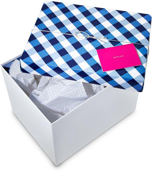 Large Gingham Gift Box Kit
