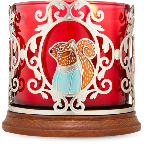 Critter Portraits 3-Wick Candle Holder
