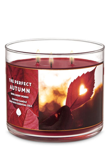 The Perfect Autumn 3-Wick Candle - Bath And Body Works