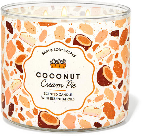 Coconut Cream Pie 3-Wick Candle