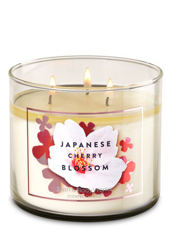 japanese cherry blossom 3 wick candle bath body works. Black Bedroom Furniture Sets. Home Design Ideas