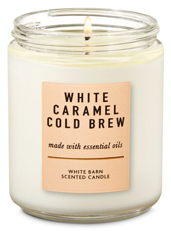 White Caramel Cold Brew Single Wick Candle - Bath And Body Works