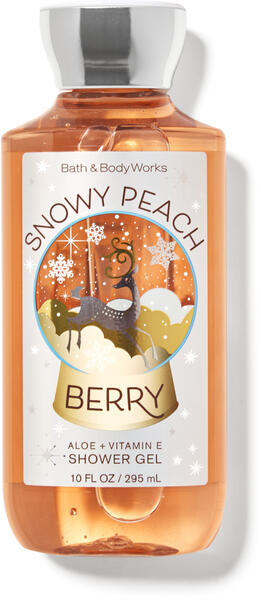 Snowy Peach Berry Shower Gel