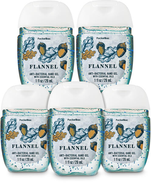 Flannel PocketBac Hand Sanitizer, 5-Pack
