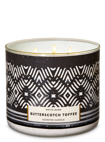 Butterscotch Toffee 3-Wick Candle - Bath And Body Works