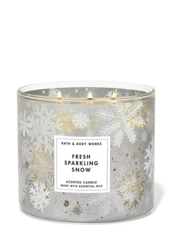 Fresh Sparkling Snow 3-Wick Candle