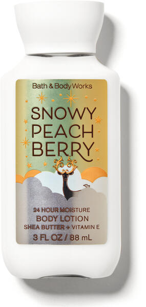 Snowy Peach Berry Travel Size Body Lotion