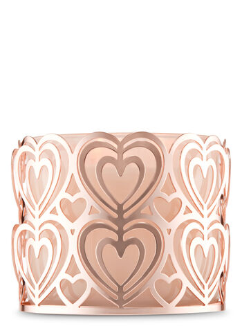 Rose Gold Hearts 3-Wick Candle Holder - Bath And Body Works