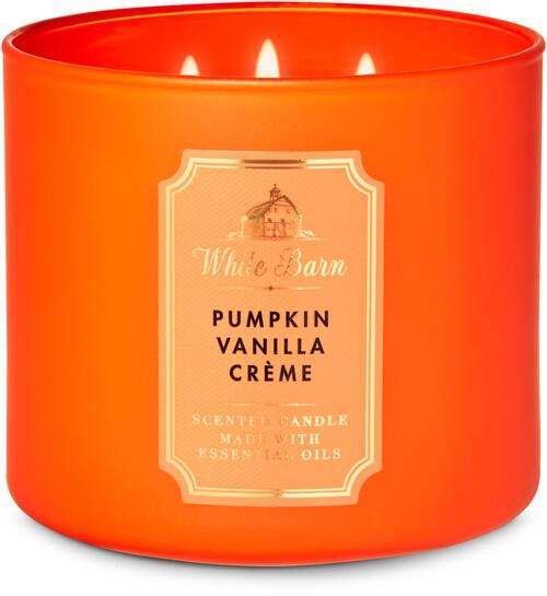 Pumpkin Vanilla Crème 3-Wick Candle