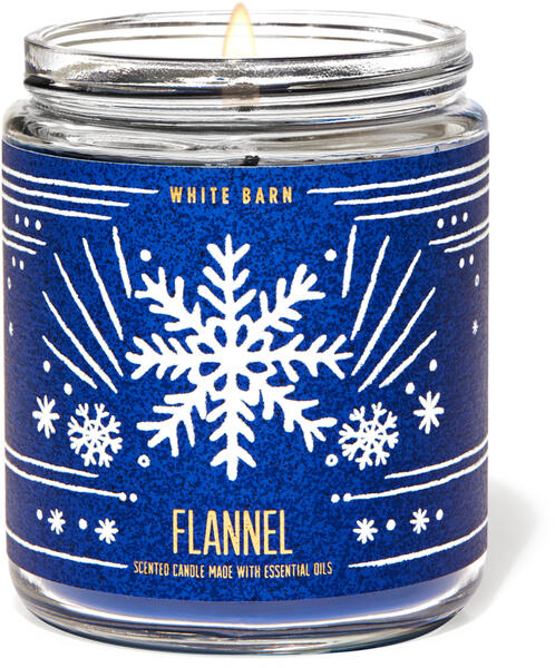 Flannel Single Wick Candle
