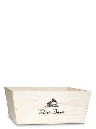 White Barn White Wood Crate Gift Box