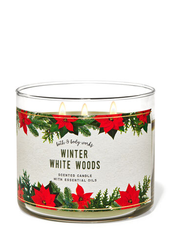 Winter White Woods 3-Wick Candle