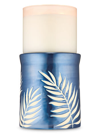 Palm Fronds Pedestal 3-Wick Candle Holder - Bath And Body Works