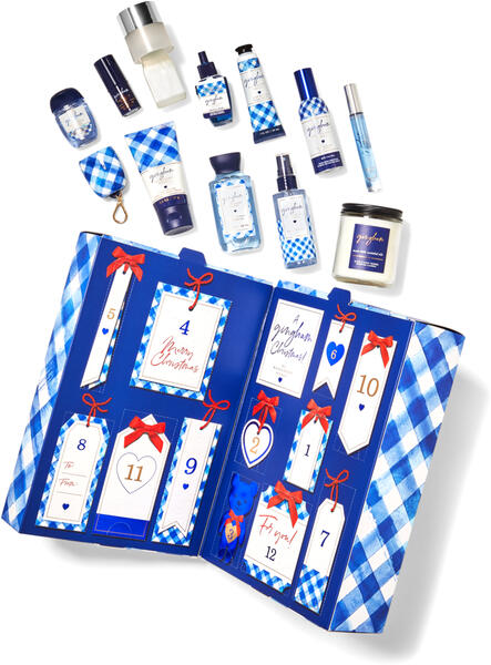 Gingham Advent Calendar Gift Set