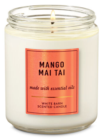 Mango Mai Tai Single Wick Candle - Bath And Body Works