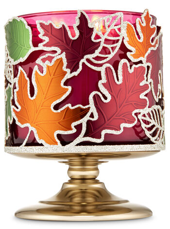 Dancing Leaves 3-Wick Candle Holder - Bath And Body Works