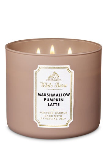 Marshmallow Pumpkin Latte 3-Wick Candle - Bath And Body Works
