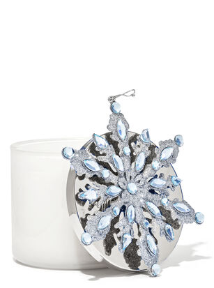 Blue Snowflake 3-Wick Candle Magnet