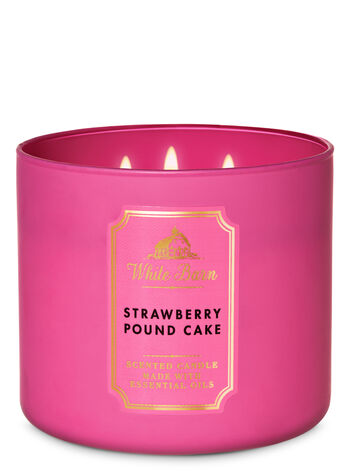 White Barn Strawberry Pound Cake 3-Wick Candle - Bath And Body Works