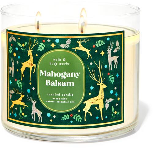 Mahogany Balsam 3-Wick Candle