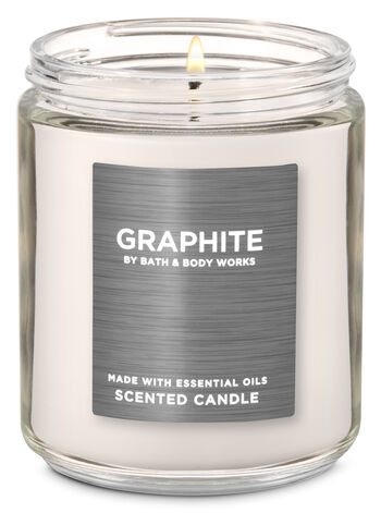 Graphite Single Wick Candle - Bath And Body Works