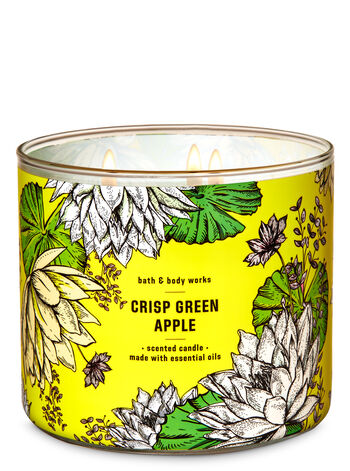 Crisp Green Apple 3-Wick Candle - Bath And Body Works