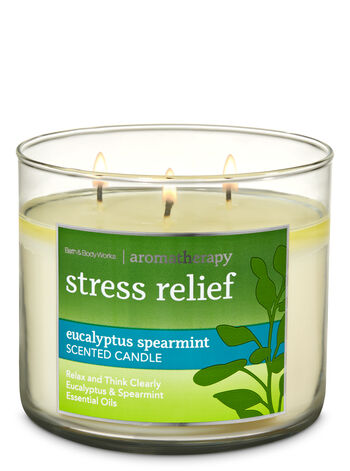 Aromatherapy Eucalyptus Spearmint 3-Wick Candle - Bath And Body Works