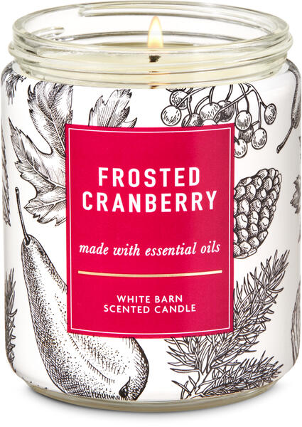 Frosted Cranberry Single Wick Candle