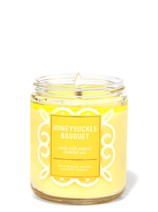 Honeysuckle Bouquet Single Wick Candle