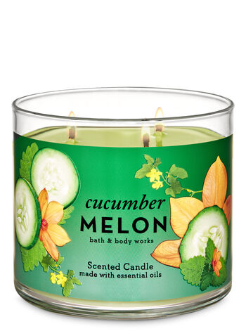 Cucumber Melon 3-Wick Candle - Bath And Body Works