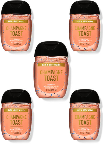 Champagne Toast PocketBac Hand Sanitizers, 5-Pack