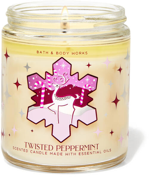 Twisted Peppermint Single Wick Candle