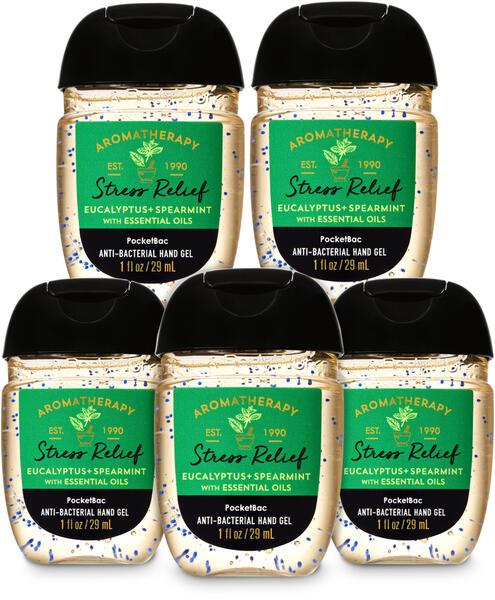 Eucalyptus Spearmint PocketBac Hand Sanitizer, 5-Pack
