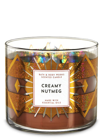 White Barn Creamy Nutmeg 3-Wick Candle - Bath And Body Works