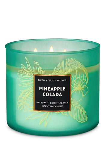 Pineapple Colada 3-Wick Candle - Bath And Body Works