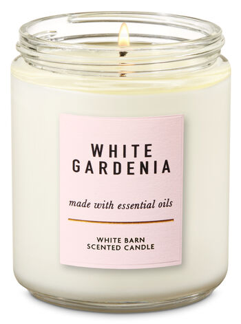 White Gardenia Single Wick Candle - Bath And Body Works
