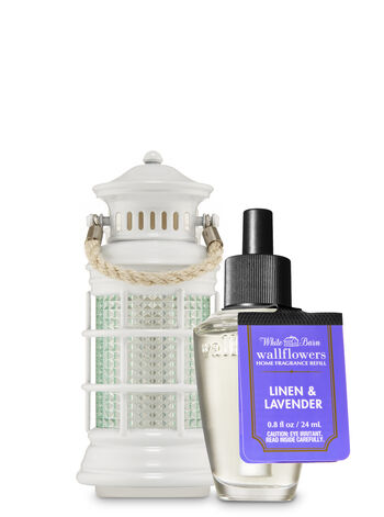 Linen & Lavender Wallflowers Fragrance Refill & Lantern Nightlight Plug Wallflowers Plug & Fragrance Refill - Bath And Body Works