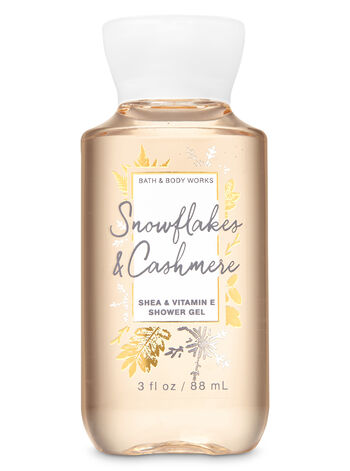 Snowflakes & Cashmere Travel Size Shower Gel - Bath And Body Works