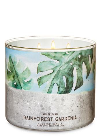 Rainforest Gardenia 3-Wick Candle - Bath And Body Works