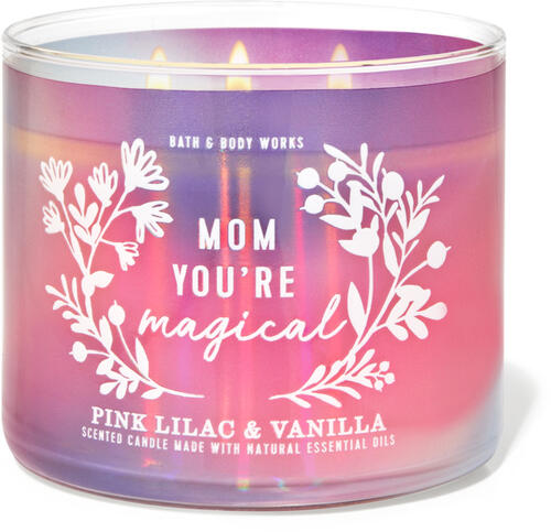 Pink Lilac & Vanilla 3-Wick Candle