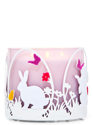 Spring Bunnies 3-Wick Candle Holder