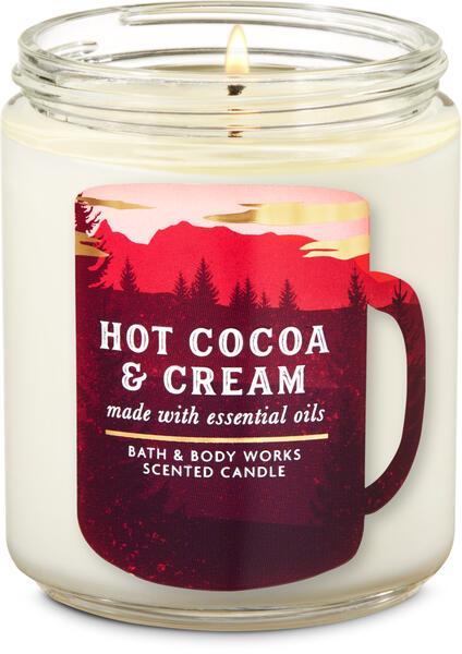 Hot Cocoa & Cream Single Wick Candle
