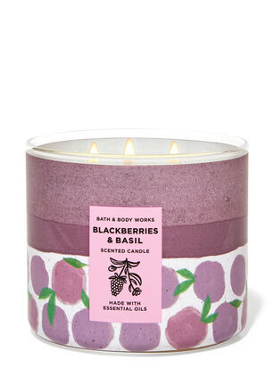Blackberries & Basil 3-Wick Candle