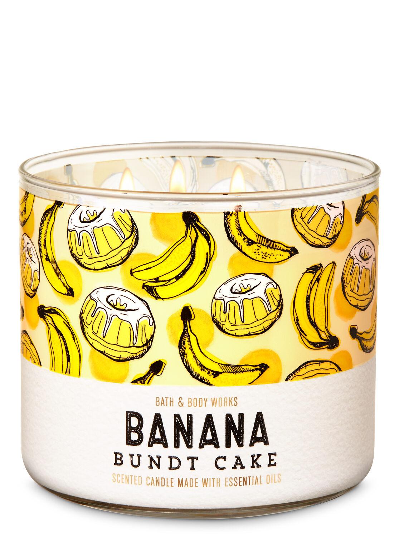 BATH /& BODY WORK Banana Bundt Cake 3-Wick Candle