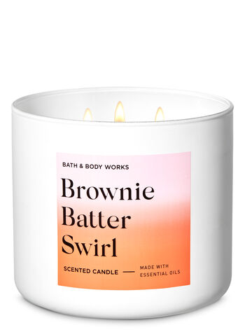 Brownie Batter Swirl 3-Wick Candle - Bath And Body Works