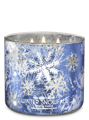 Winter Snowfall 3-Wick Candle - Bath And Body Works