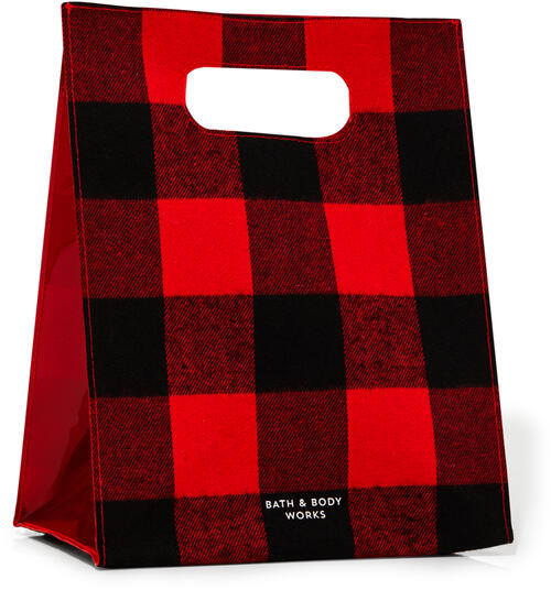 Black & Red Buffalo Check Gift Bag