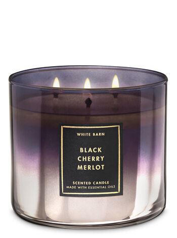 White Barn Black Cherry Merlot 3-Wick Candle - Bath And Body Works