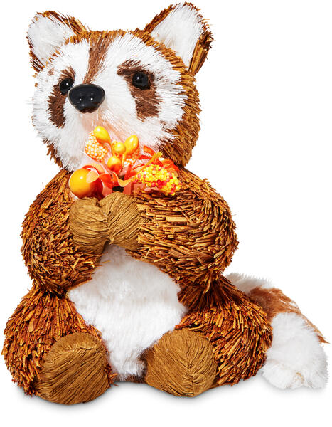 Fall Racoon Figurine