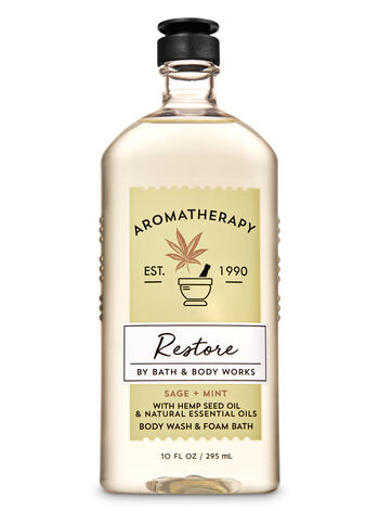 Aromatherapy Sage Mint Body Wash & Foam Bath - Bath And Body Works